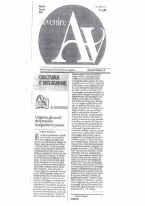RECENSIONE AD ARGINI, DI BIANCA GARAVELLI, AVVENIRE