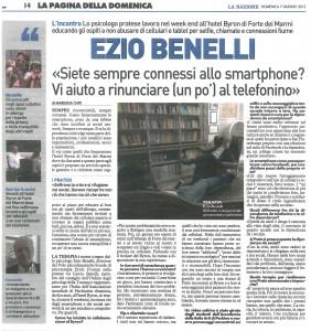 Ezio Benelli - La Nazione - 7 Giugno 2015