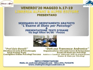 LIBRERIA ALFANI 20 MAGGIO H.17-.19