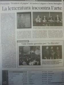Frontiera di Pagine, Il Quotidiano della Basilicata 24.06.2013