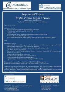 Locandina Convegno Impresa all'Estero-Profili Pratici Legali e Fiscali