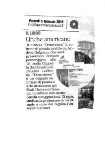 Il Quotidiano della Basilicata, 5.02.2016