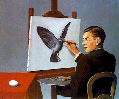 René Magritte, La clairvoyance, 1936