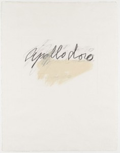 Apollodoro from the portfolio Six Latin Writers and Poets, 1976-76, Cy Twombly